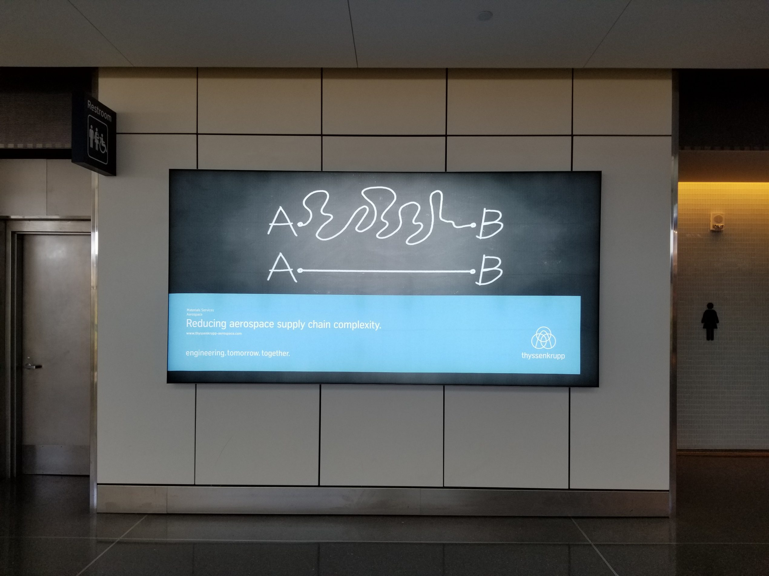 thyssenkrupp Aerospace; Billboard Wichita Airport, USA