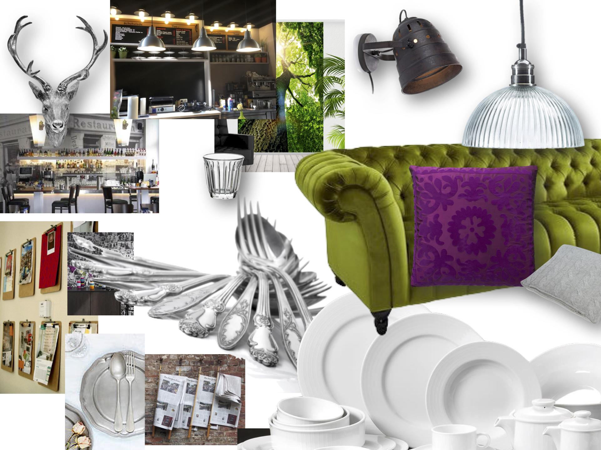 Innen-Gestaltung Café