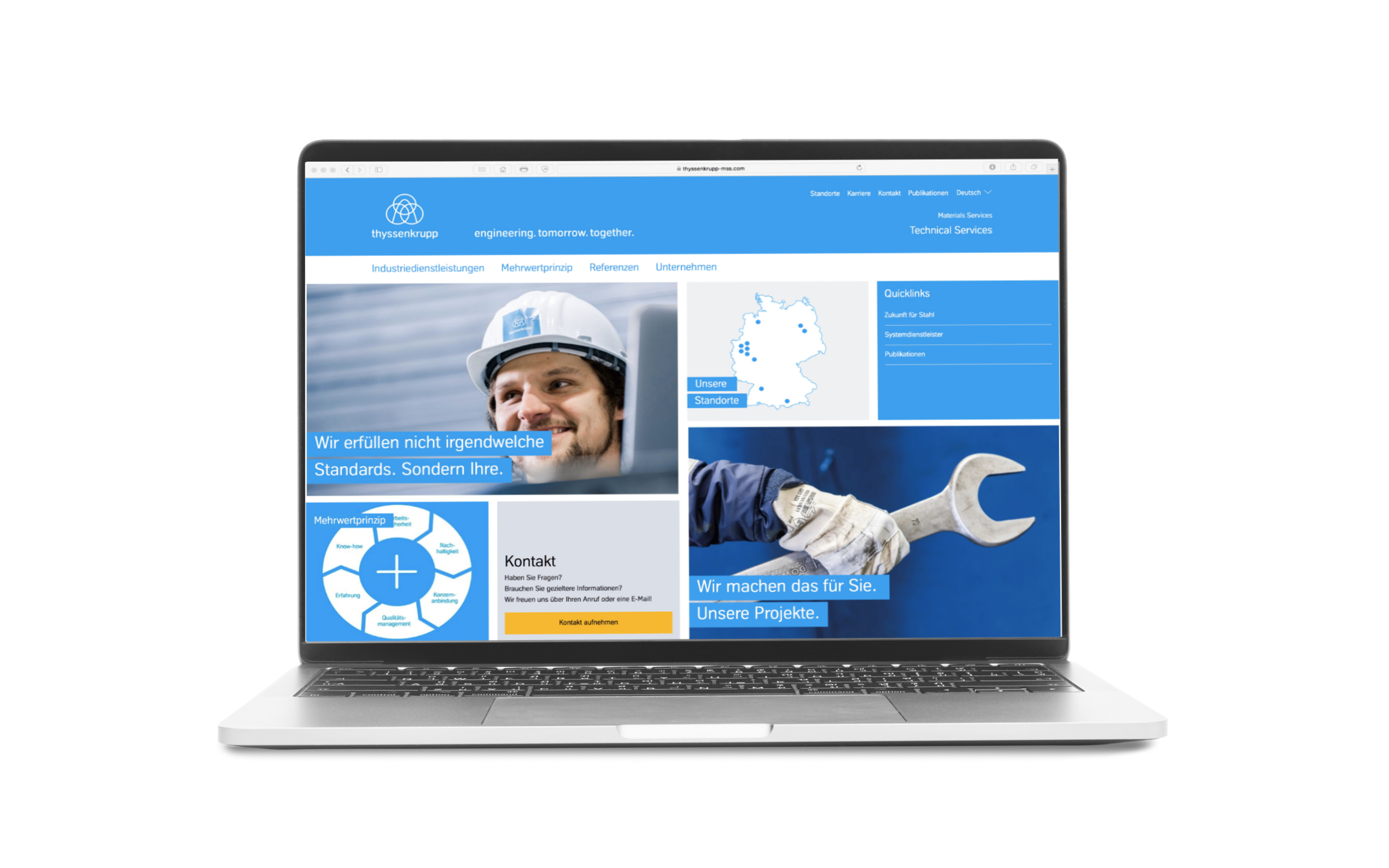 thyssenkrupp MillServices & Systems; ReLaunch Website